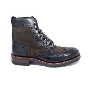 Frye George Adirondack Wingtip Boot in Black Multi